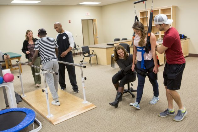 Students use the new physical therapy clinic at Brenau University's Downtown Center.