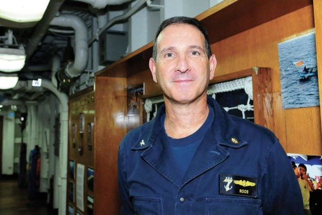 U.S. 7th Fleet Surgeon Capt. Joel Roos poses for a photo. (U.S. Navy photo)