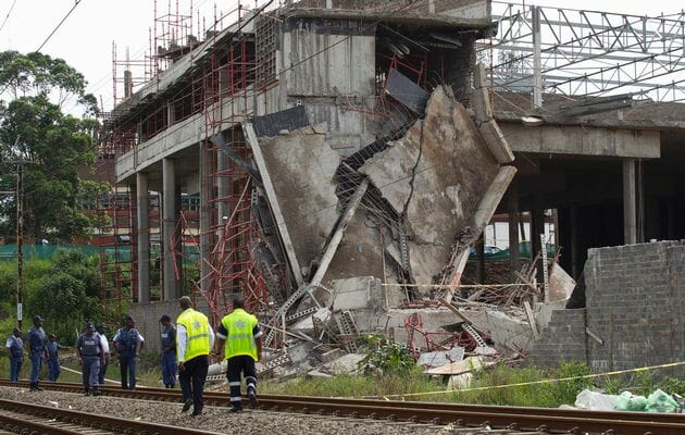 Collapsed building Tongaat