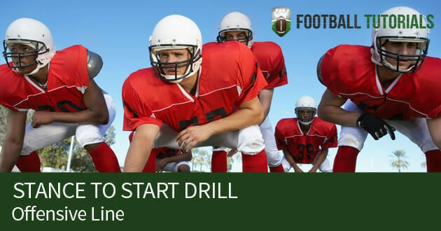 offensive line stance to start