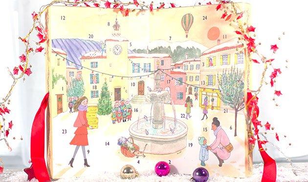 L'Occitane en Provence Calendrier de l'Avent dessiné par Kanako