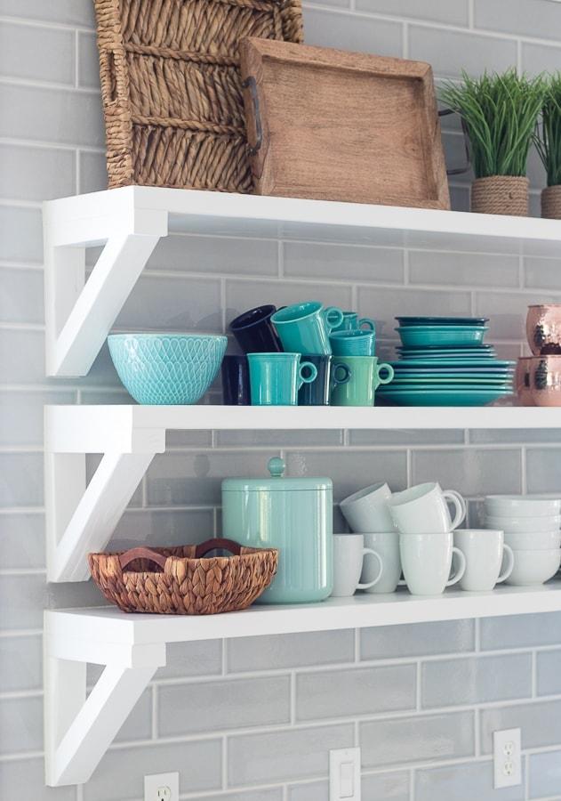 Coastal white and grey kitchen