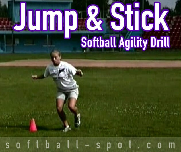 jump and stick softball agility drill
