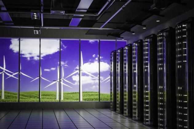 Data center use clean energy