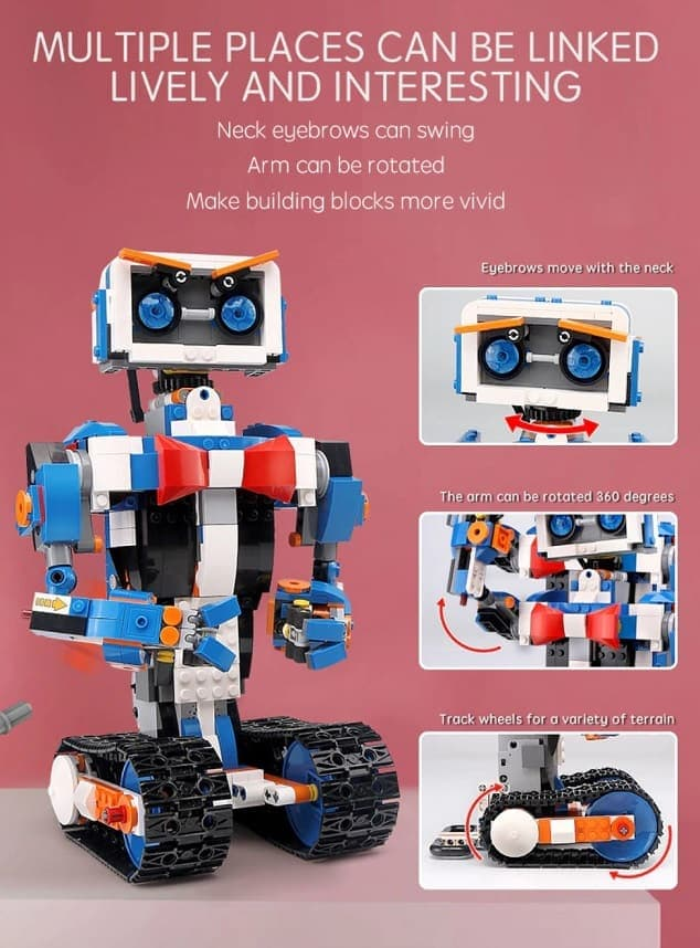 Best AliExpress Lego Replica Top Lego Alternative Cheap Lego Clone Lepin Interactive Robot Features 1