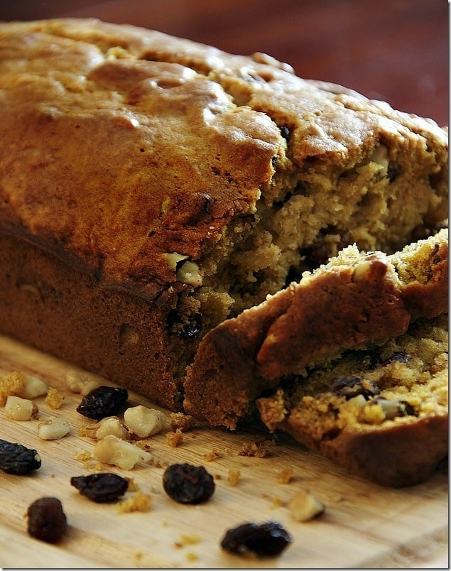 Each slice of this walnut pumpkin bread is filled with crunch and sweetness.
