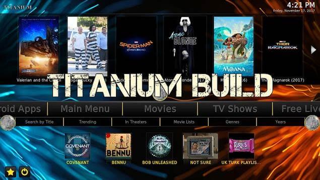 Titanium Build on Kodi 17.6 Krypton