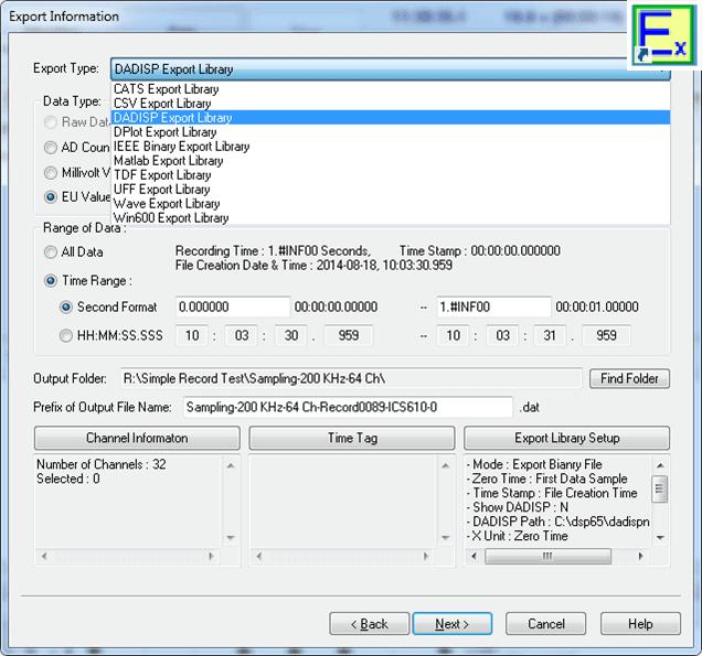 Daqscribe DaqHunter Software Suite - Simple Explorer