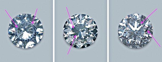 Der Fisheye-Effekt beim Diamant-Schliff kommt auf dem Bild links besonders zur Geltung
