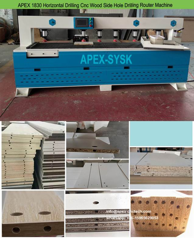 CNC Drill Press Horizontal Side Hole Drilling Router Machine