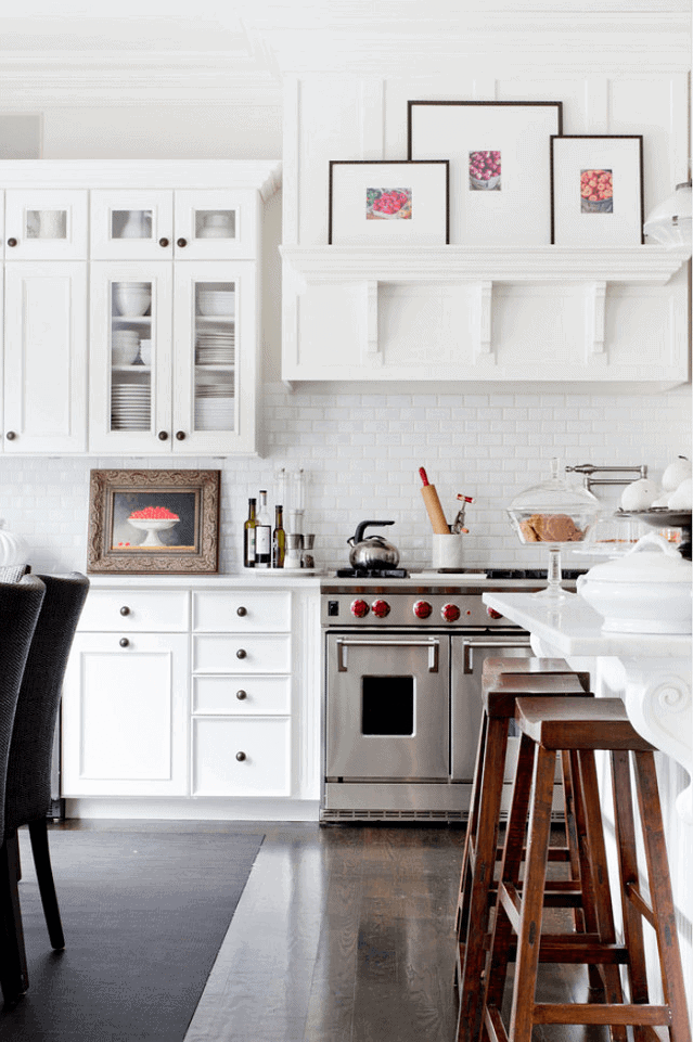 White modern farmhouse kitchen decor and design ideas