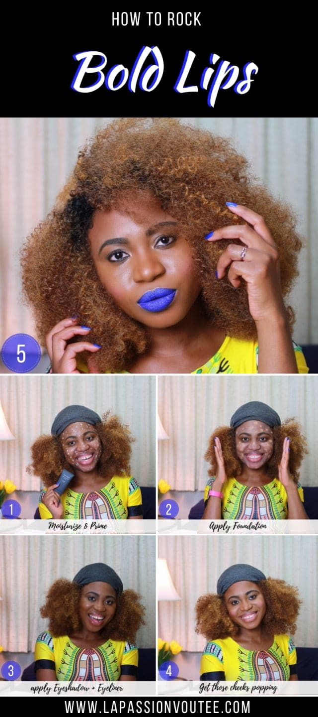 How do you achieve an effortless bold lips makeup in under 15 minutes? Beauty blogger, Louisa shares how she created this dewy blue lips makeup with products available at your local drugstore. Now you can too! The best easy makeup beauty tips to make you look flawless without trying too hard! makeup ideas, makeup tutorial, makeup products, beauty hacks, beauty tips, makeup aad beauty, easy makeup, diy makeup, makeup hacks #makeup