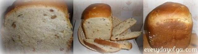 сладкий сдобный хлеб в хлебопечке
