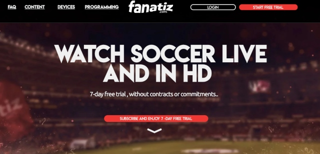 watch soccer via Fanatiz