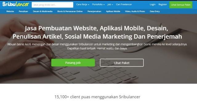 Sribulancer : Gudangnya Freelancer Pembuatan Web