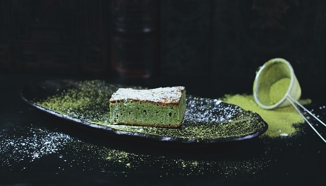 Baked Green Matcha Brownie