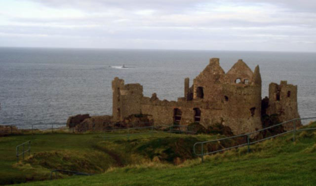 Dunluce Castle in Co. Antrim in Ireland