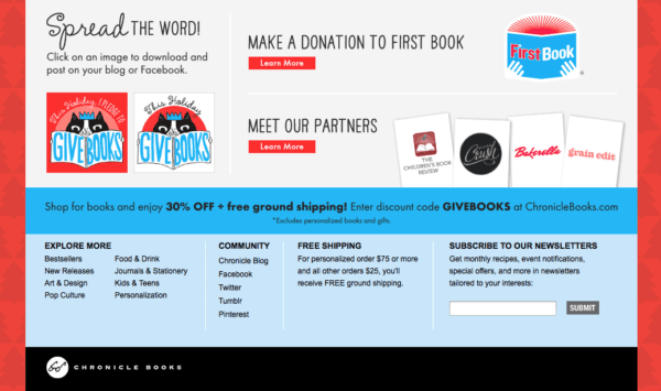 Chronicle Books holiday #GiveBooks campaign, 2013