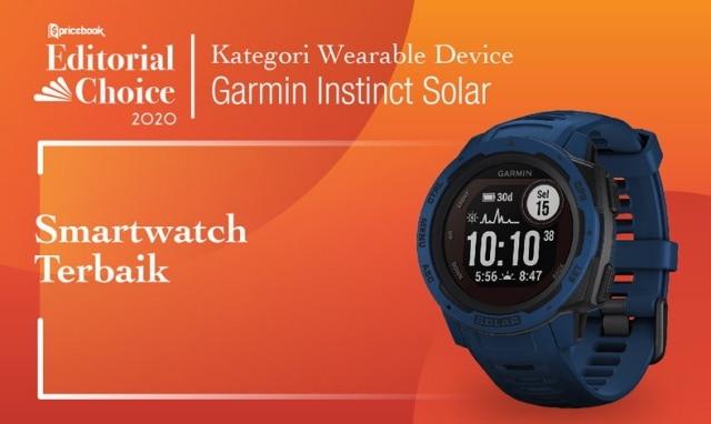 Smartwatch Terbaik : Garmin Instinct Solar