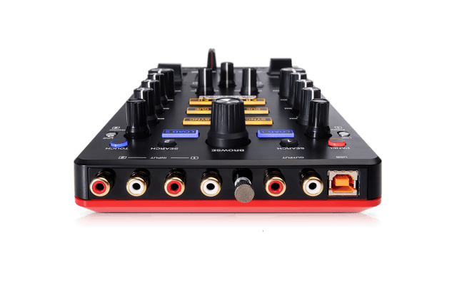 Here's where things get interesting: dual inputs mean you could really run a digital vinyl system off this, turntablists.