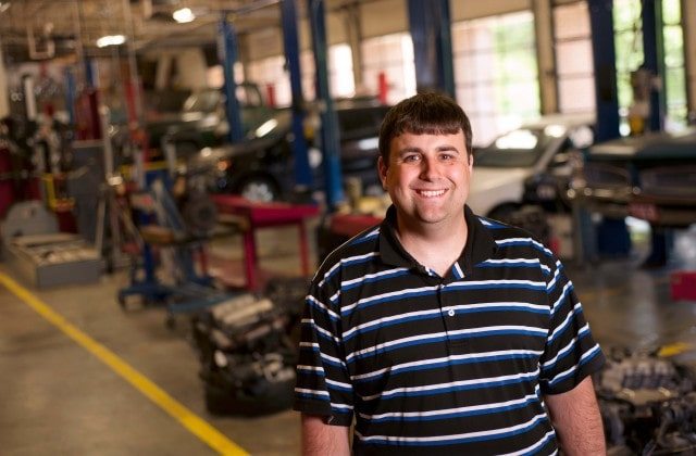Chris Davis is a student at Brenau University's Augusta campus and also teaches in the automotive technology department at Augusta Technical College.