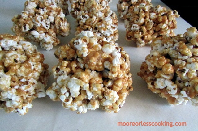 Chocolate Caramel Popcorn Balls