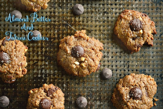 Almond Butter Tahini Cookies