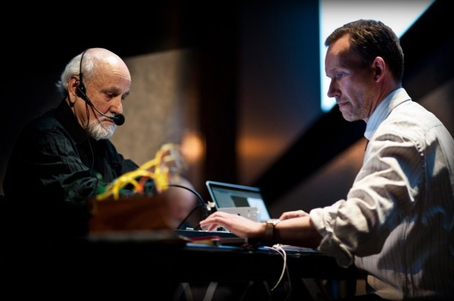 These two will bring live performance to celebrate the opening. Lillevan and Morton Subotnick at Lincoln Center, New York 2011 © Lillevan.