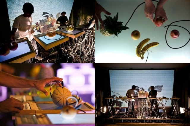 Yes, we have bananas. An ensemble of fruit becomes the music. Photos courtesy the artists.