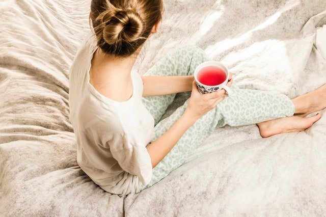 Woman With Morning Bed Tea