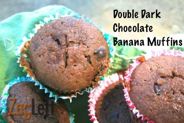 Double Dark Chocolate Banana Muffins from Zagleft
