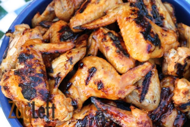 Zesty Honey Sriracha Grilled Chicken Wings - The lovely sweet taste of the honey and oranges compliment the intense spicy heat of the sriracha.