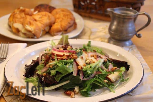 Smoky Pear Salad with Blue Cheese Crumbles from ZagLeft