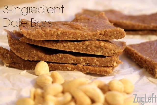 3 Ingredient Date Bars Recipe from ZagLeft