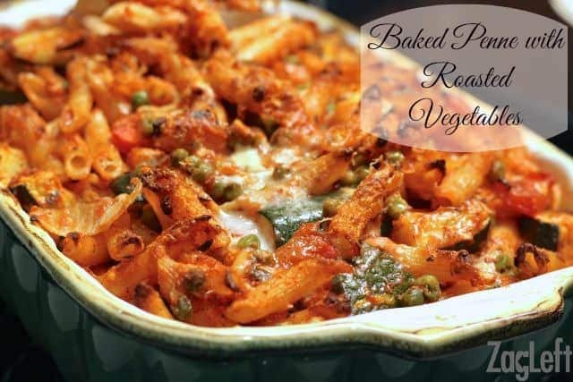 Baked Penne with Roasted Vegetables - Recipe from ZagLeft