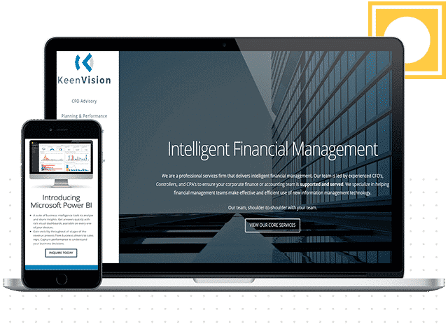 keenvision financial website design