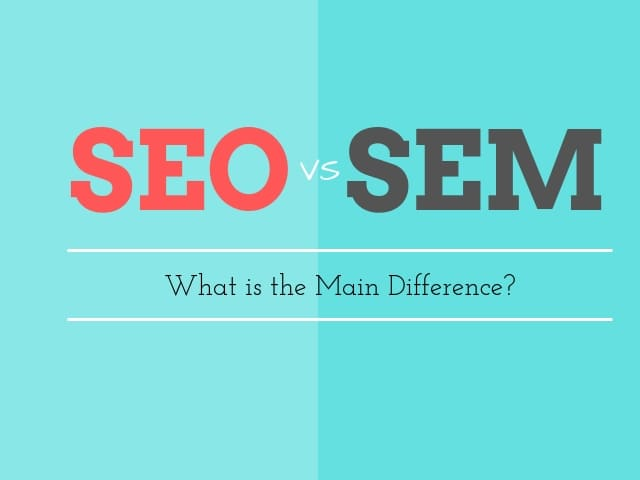 SEO and SEM Difference