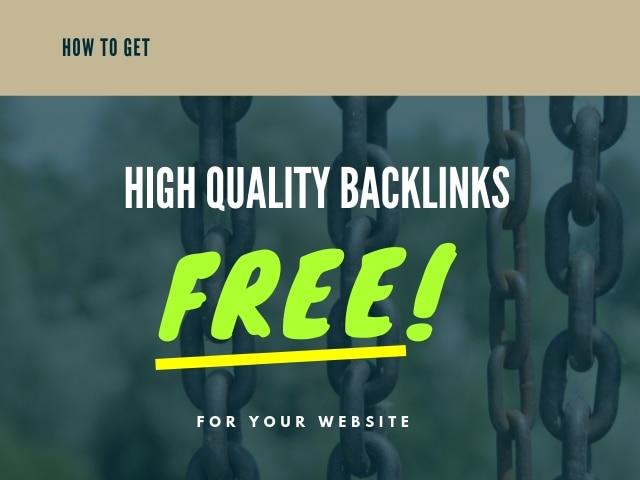 High Quality Backlinks Free