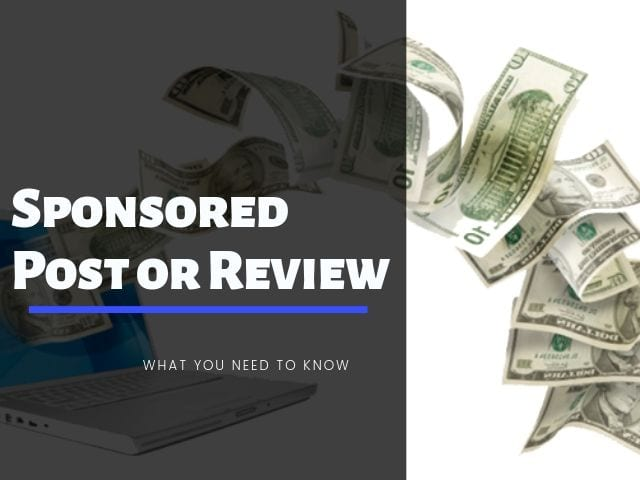 Sponsored Post or Review