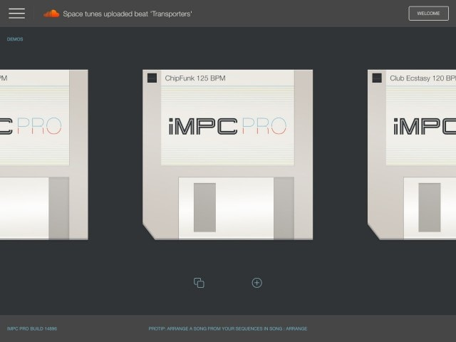 Skeuomorphism just won't die when it comes to music. Yes, you get these silly floppy disks for project management. iMPC does offer a wide range of sounds and templates to get you started, though, and you can always begin with a blank session - perfect for sampling.