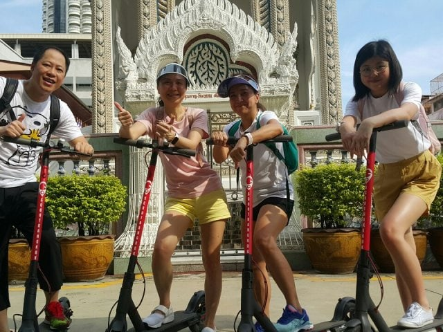 Bangkok e scooter tour