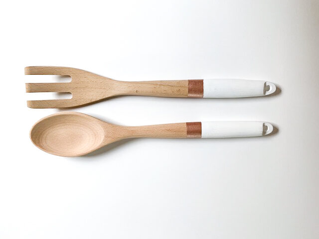 Painted salad servers