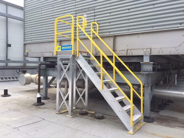HVAC Cooling Tower Access Stair Platform Outside