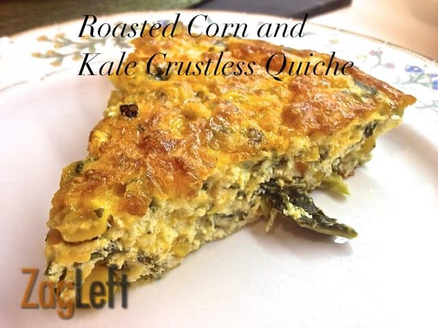 Roasted Corn and Kale Crustless Quiche from Zagleft