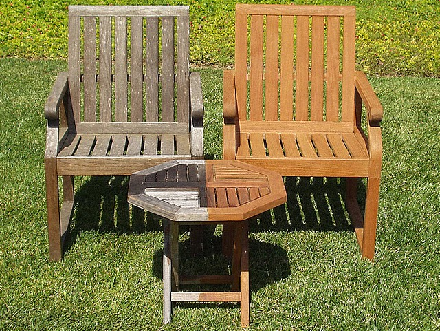 Teak Chair Restoration -Before and After Photo