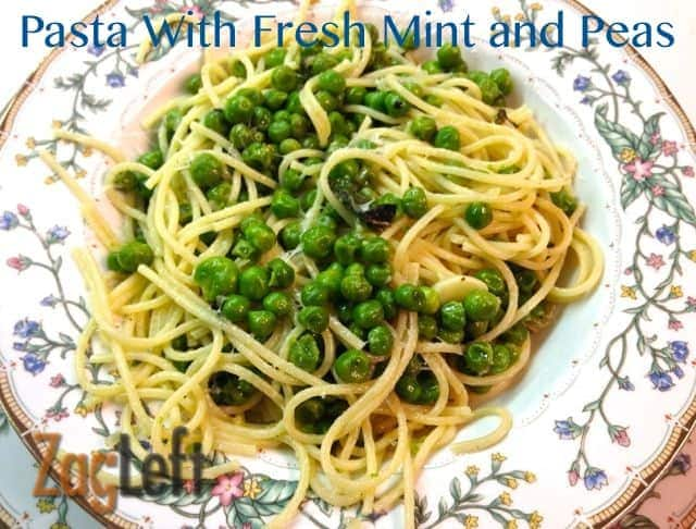 Pasta with Fresh Mint and Peas from Zagleft