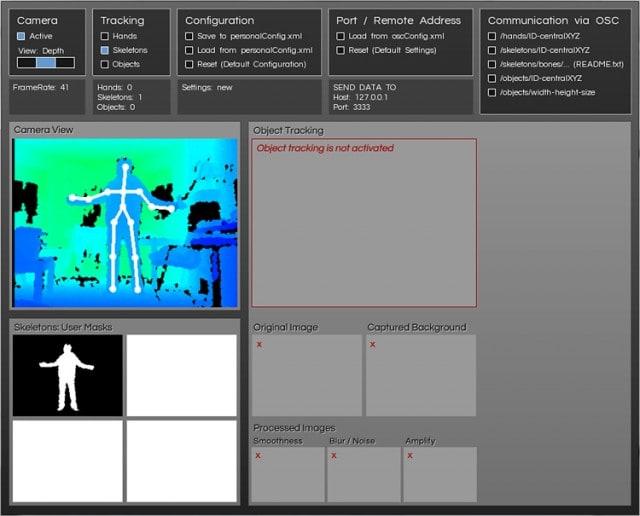 Tracking skeletons in KinectA. Courtesy the developer.