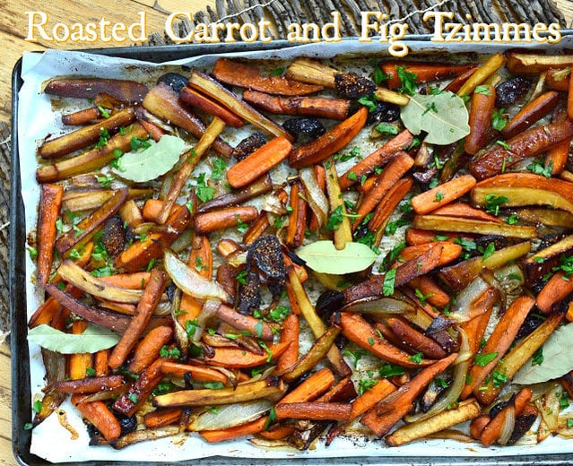 Roasted Fig and Carrot Tzimmes
