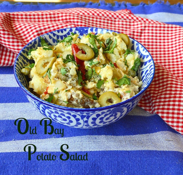 Old Bay Potato Salad has the flavor of Old Bay, and all kinds of goodness. If you love potatoes you will love this version of potato salad! #potatoes #potatosalad #salads #cookouts See More great food at: www.thisishowicook.com