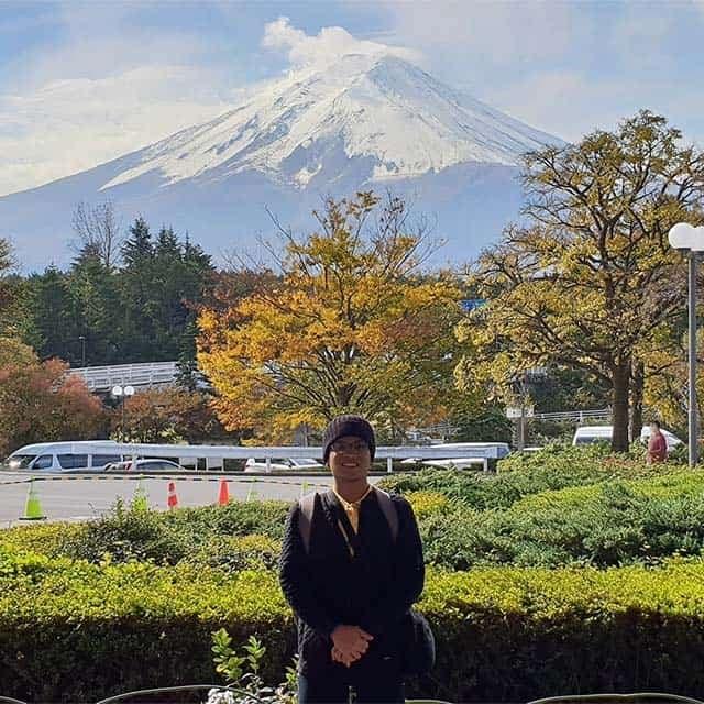 pemandangan gunung fuji di Fujikawaguchiko